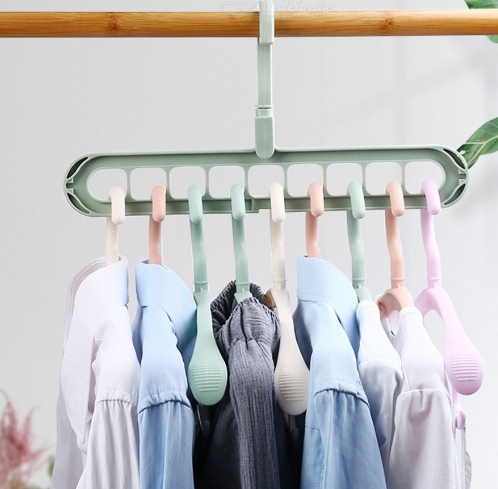 【buy 5 just $29.99 today-tomorrow】9 in 1 Smart Hanger create an additional 4 times more Almarh space