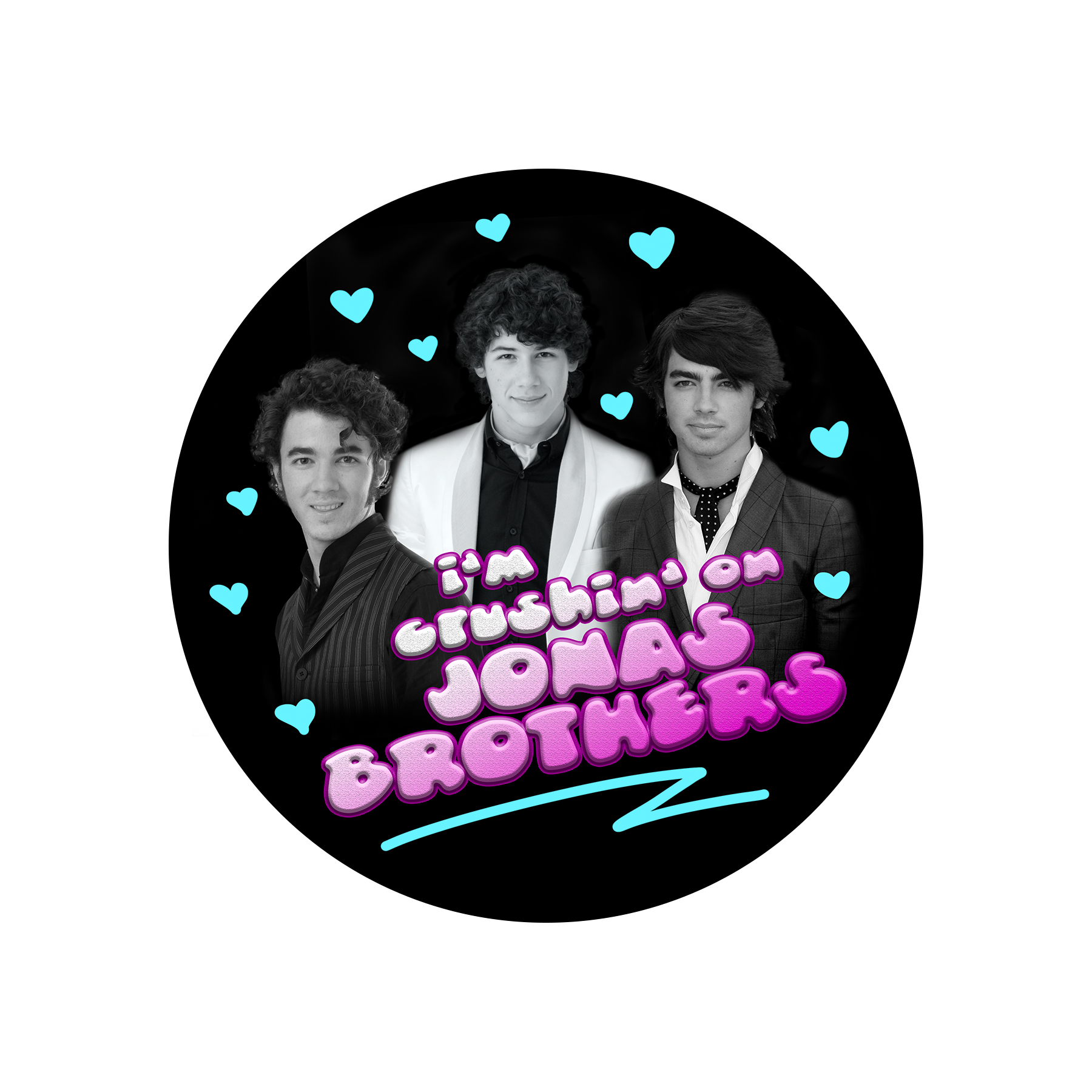TEAM JONAS VINTAGE STICKER
