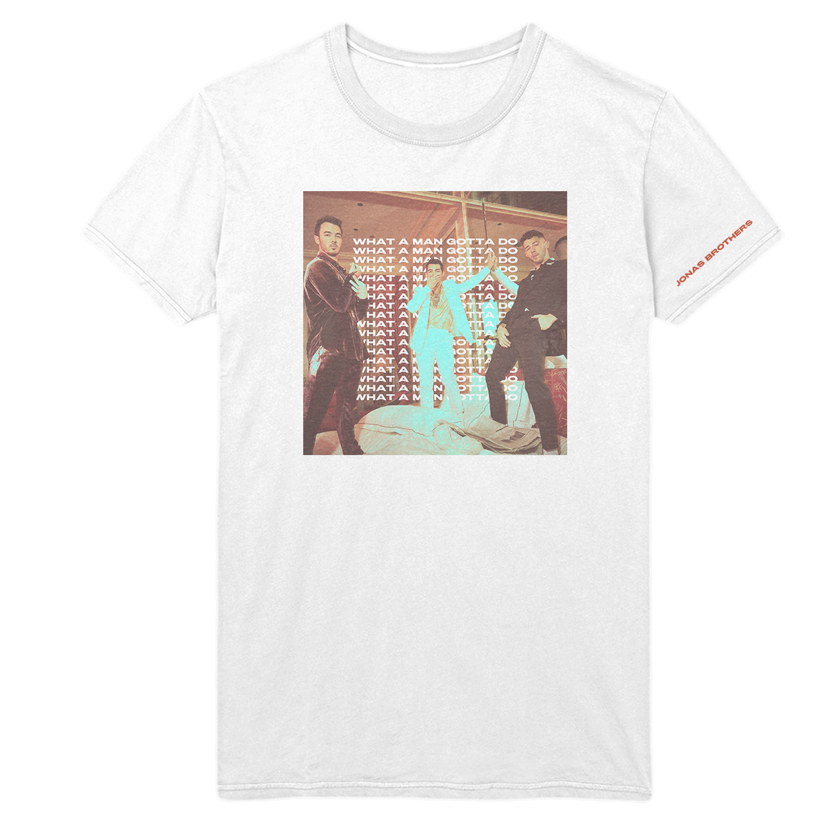 WHAT A MAN GOTTA DO UNISEX TEE-Jonas Brothers