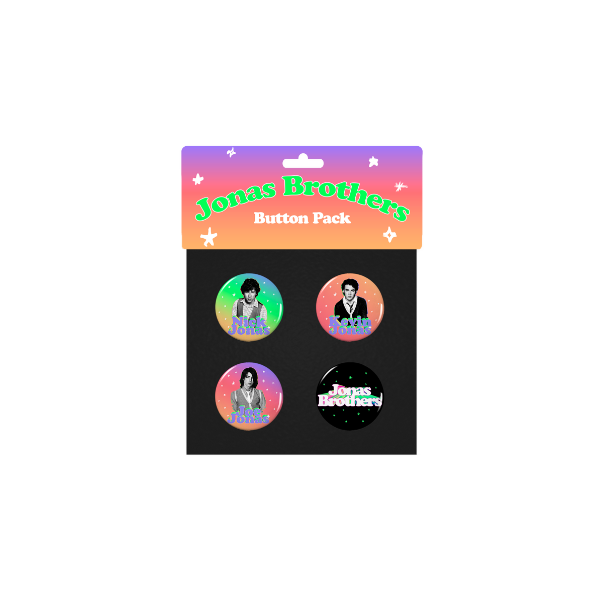 STARY THROWBACK BUTTON PACK-Jonas Brothers