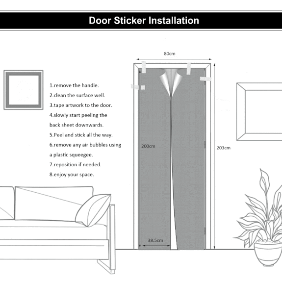Door Sticker Decal Installation