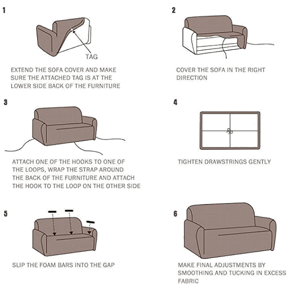 How to Install Sofa Couch Cover