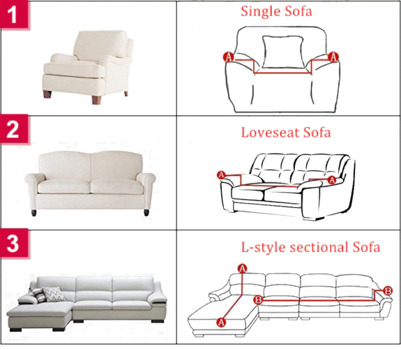 Sofa Couch Slipcover Measurements