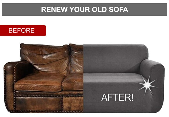 Elastic Sofa Cover (Before & After)