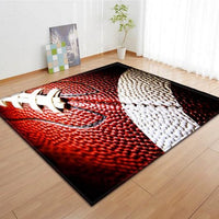Photographic American Football Print Area Rug Floor Mat