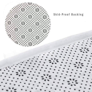 Black & White Polka Dot Print Area Rug Floor Mat