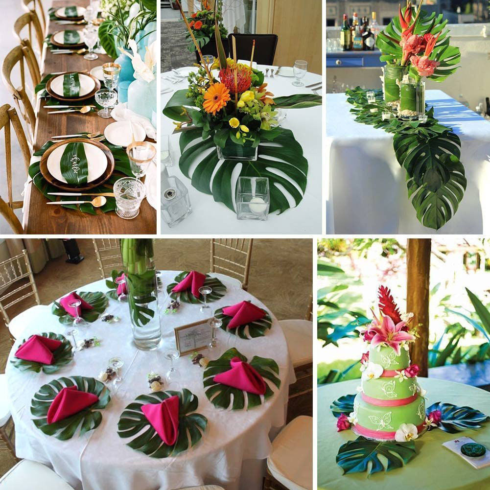 12-Piece Decorative Artificial Palm Leaves
