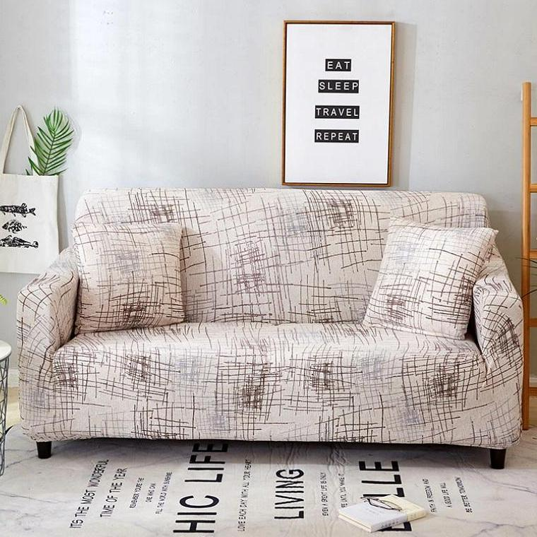 Super Ivory Abstract Scratch Pattern Sofa Couch Cover Dailytribune Chair Design For Home Dailytribuneorg