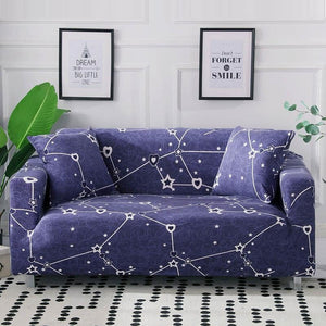 Blue Heart / Star Constellation Pattern Sofa Couch Cover