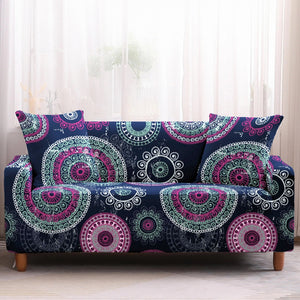 Blue / Purple Bohemian Mandala Pattern Sofa Couch Cover