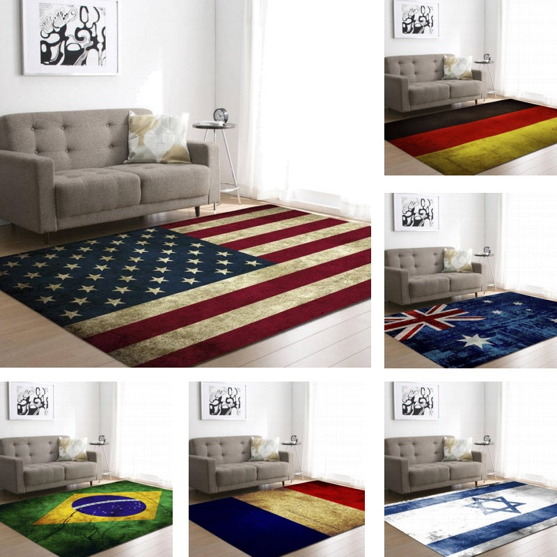 Country / National Flag Print Area Rug Floor Mat