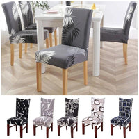Black & White Moroccan Lattice Pattern Dining Chair Cover