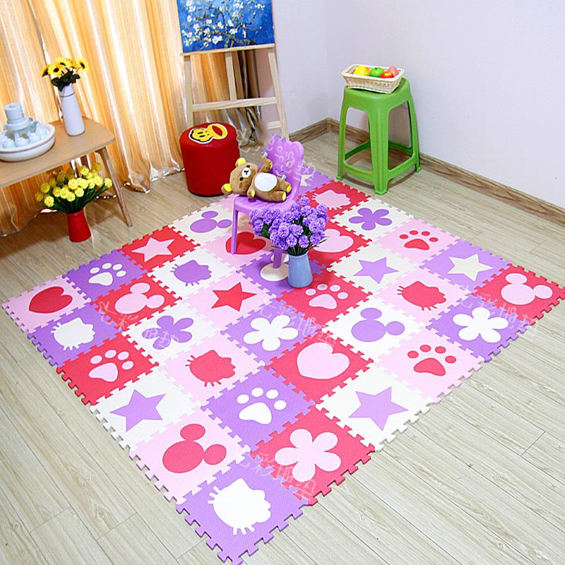 Puppy Dog Paw Print Foam Interlocking Floor Mat