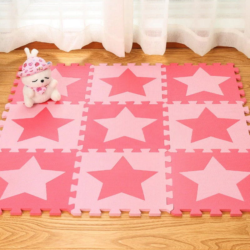 Flower/Heart/Star Shape Foam Interlocking Floor Mat