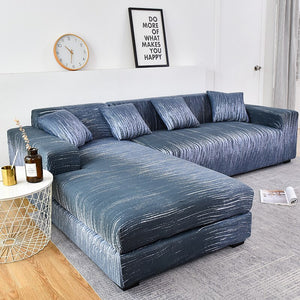 Gradient Striped Ripple Pattern Sofa Couch Cover