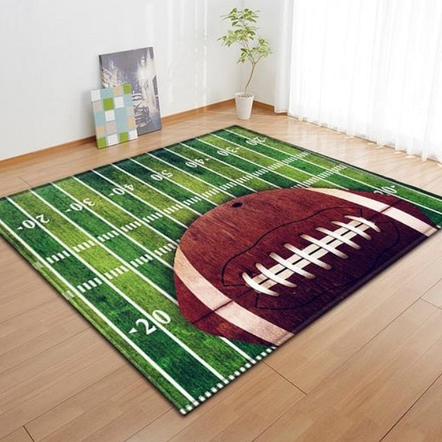 Kids American Football Print Area Rug Floor Mat