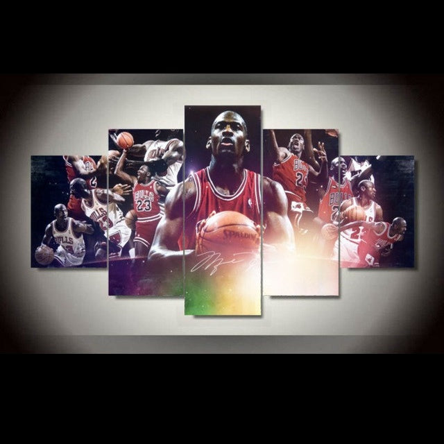 5-Piece Michael Jordan Chicago Bulls Legend Canvas Wall Art