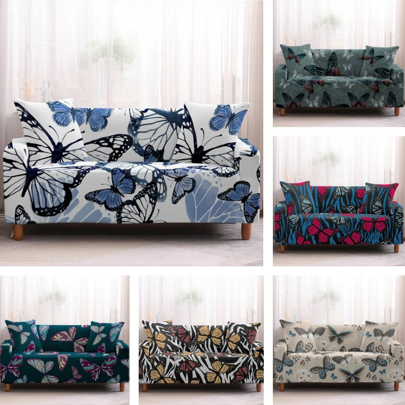 Multi-Color Butterfly Print Sofa Couch Cover