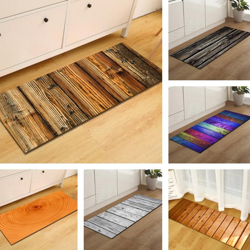 Natural Wood Print Door Mat / Floor Runner