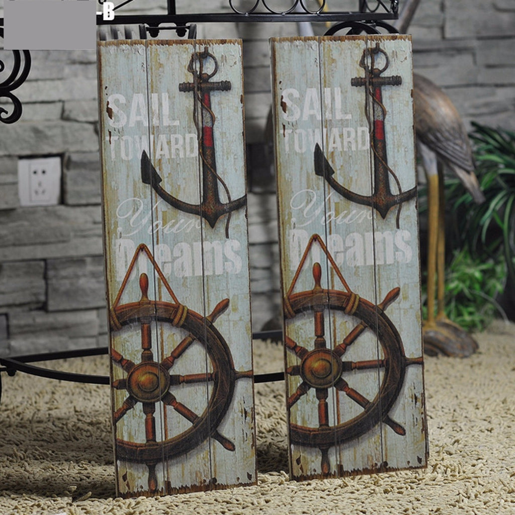 Rustic Nautical Wood Sailing Wall Art Sign