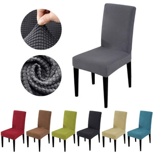 Solid Textured Polar Fleece Dining Chair Cover