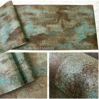 Multi-Color 3D Vinyl Industrial Concrete Texture Wallpaper
