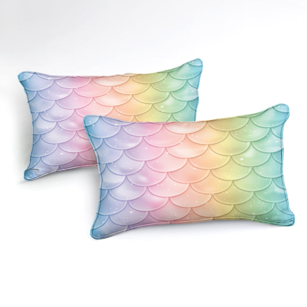 2/3-Piece Magical Mermaid Scale Pattern Duvet Cover Set
