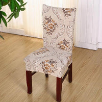 Vintage Floral Damask Elastic Dining Chair Cover
