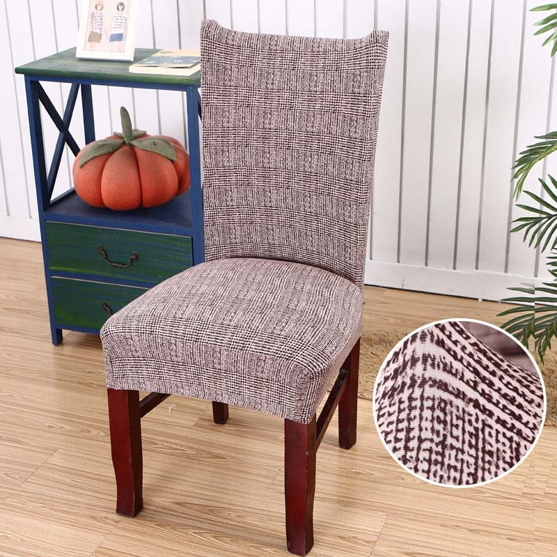 Simple Cross Weave Pattern Dining Chair Cover