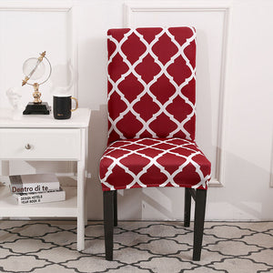 Quarterfoil Lattice Pattern Dining Chair Cover
