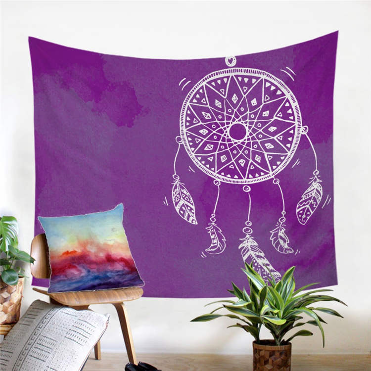Watercolor Dreamcatcher Wall Tapestry