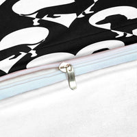 2/3-Piece Black & White Dachshund Love Duvet Cover Set