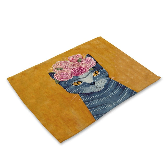 Comical Cartoon Kitty Cat Table Placemat