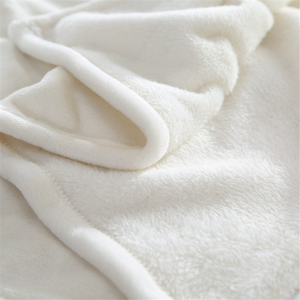 White Nautical Wandering Compass Fleece Throw Blanket
