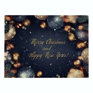 Black & Gold Holiday Christmas Print Table Placemat