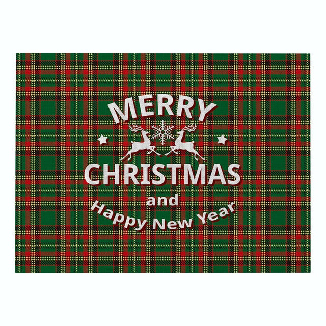 Red & Green Plaid / Christmas Pattern Table Placemat