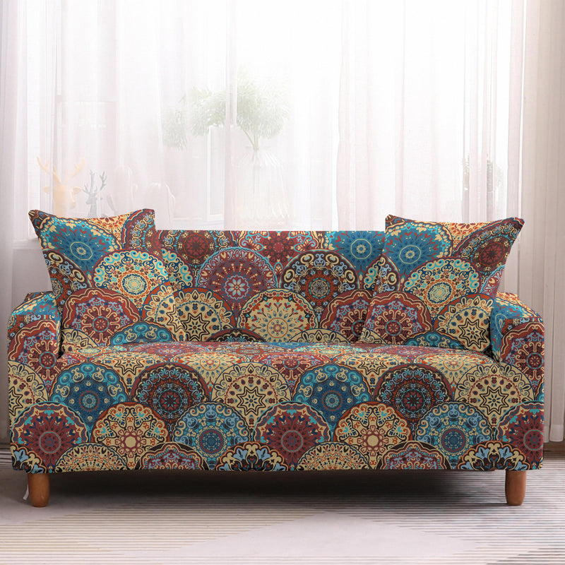 Multi-Color Bohemian Patchwork Sofa Couch Cover