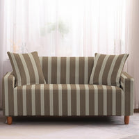 Multi-Color Weave Stripe Pattern Sofa Couch Cover
