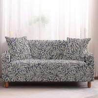 Blue Vintage Floral Pattern Sofa Couch Cover