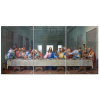 3-Piece Christian Jesus Last Supper Canvas Wall Art