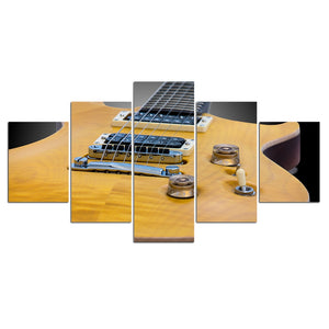 5-Piece Wood Electric Guitar Body Canvas Wall Art