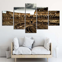 5-Piece Ancient Roman Colosseum Canvas Wall Art