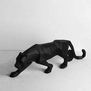 Modern Abstract Geometric Cougar / Panther Sculpture