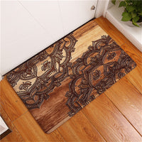 Multi-Color Bohemian Flower Print Door / Floor Mat