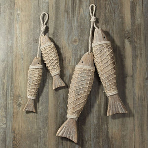 Decorative Nautical Rustic Hanging Wood Fish