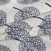 Lucky Tree Pattern Cotton Linen Tablecloth w/ Lace