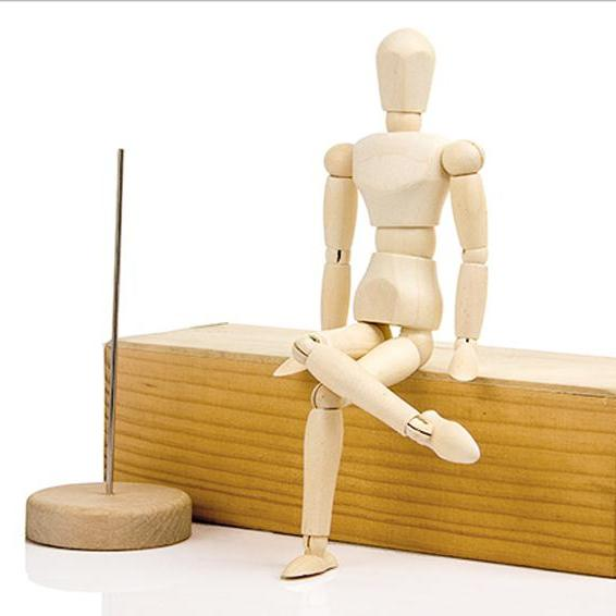 Miniature Movable Wooden Human Manikin Model