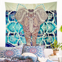 Indian Elephant Mandala Pattern Wall Tapestry