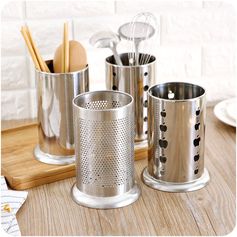 Stainless Steel Kitchen Utensil Storage Holder Tube