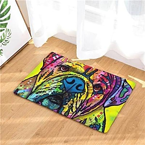 Colorful Graffiti Dog Print Door / Floor Mat Rug